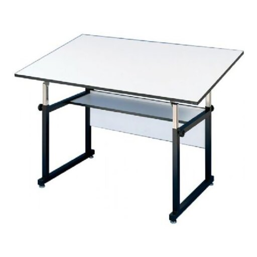Alvin Home Office Art Drawing Crafting Drafting Hobby Center WorkMaster Table, Black Base White Top 37 1/2