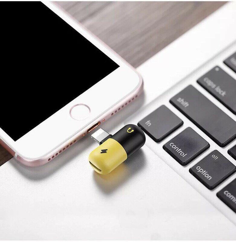 《台灣現貨》三合一音源充電通話 iphone轉接頭 膠囊轉接頭 雙lightning轉接頭 音源轉接線 可通話可聽音樂 1