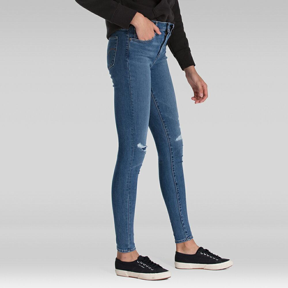 Levis 女款 720 高腰超緊身窄管 超彈力牛仔褲  /  Sorbtek保暖纖維  /  Warm Jeans內刷毛  /  破壞縫補  /  彈性布料 W 4