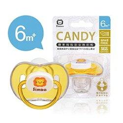 【淘氣寶寶】小獅王 辛巴 Simba 糖果拇指型安撫奶嘴-橘色(較大) 6m+ (S19031)