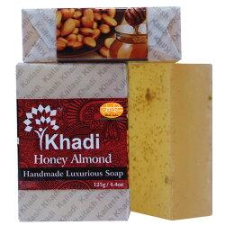 印度 Kailash Khadi 草本 精油 手工皂 蜂蜜杏仁 125g