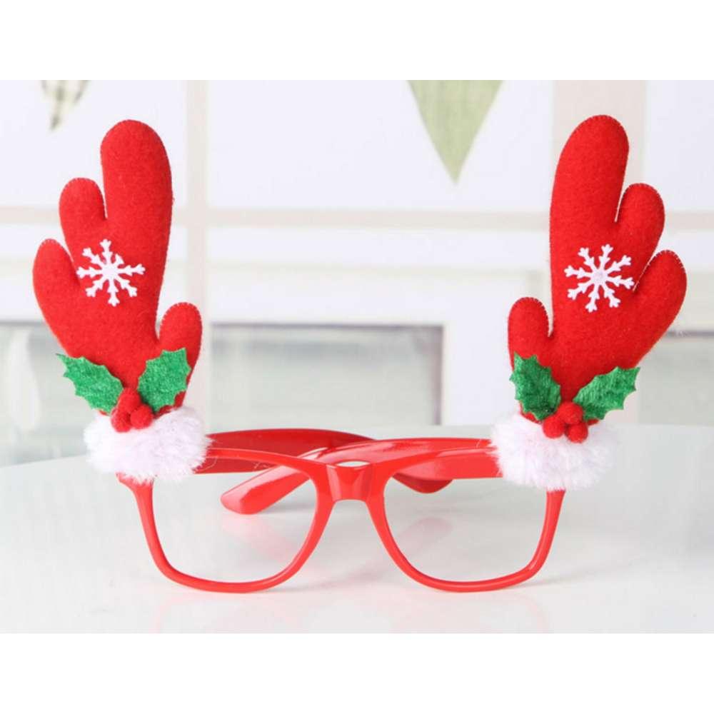 【摩達客】聖誕派對造型眼鏡-紅鹿角 YS-PDG16001