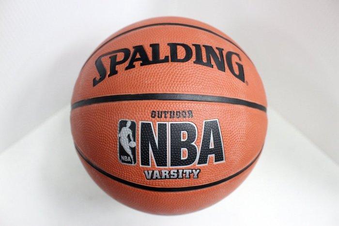 [陽光樂活] 斯伯丁 SPALDING 戶外橡膠籃球 NBA Varsity 橘 #7 SPA64291