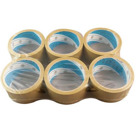 地球 大管芯布紋PVC包裝膠帶 48mmx12M X6卷