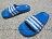Shoestw【D67479】ADIDAS DURAMO K SLIDE 拖鞋 中童 一體成型 藍白 1