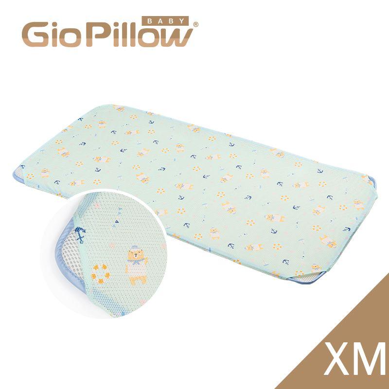 韓國GIO Kid Mat 智慧二合一有機棉超透氣嬰兒床墊(XM)水手熊藍★衛立兒生活館★