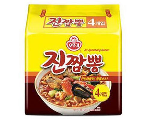 奧多吉真炒碼海鮮風味拉麵-螃蟹炒碼麵130公克*4包
