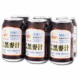 ●崇德發天然黑麥汁易開罐330ml (6罐) 素食可用 德國原裝進口 【合迷雅好物商城】