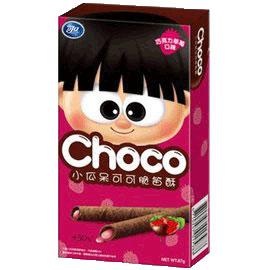 可口小瓜呆可可脆笛酥-巧克力草莓67g【合迷雅好物商城】