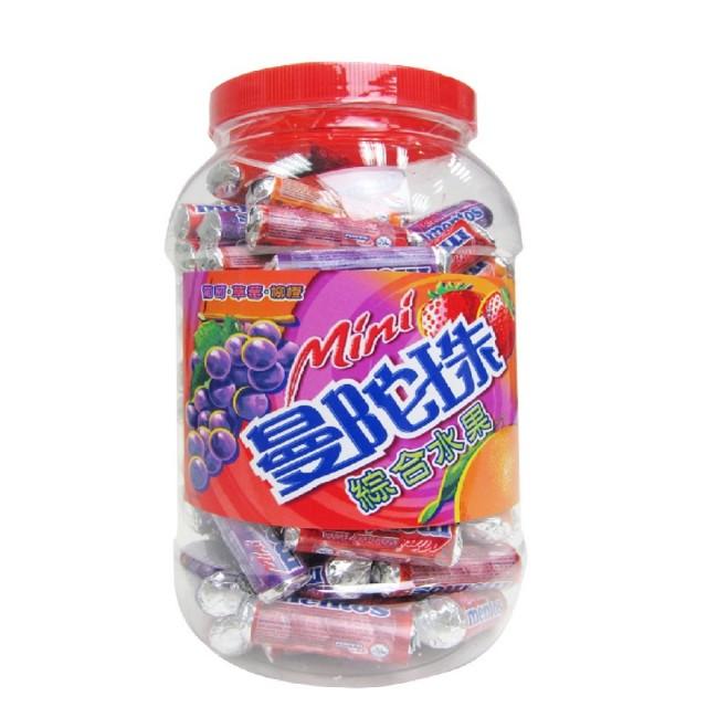 曼陀珠 迷你曼陀珠綜合水果口味10g (100入 / 桶)【合迷雅好物商城】