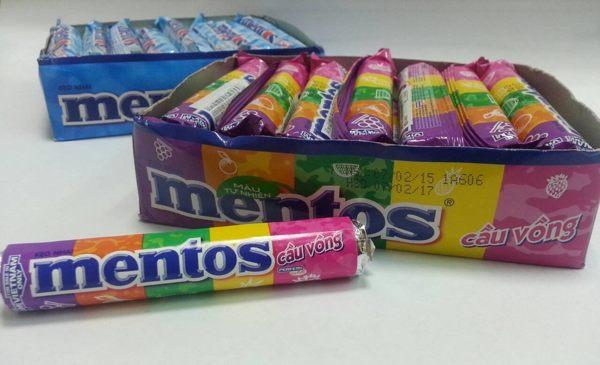 mentos綜合軟糖30g~草莓鳳梨西瓜橘子葡萄口味 16  條  ~合迷雅好物商城~