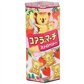 ●Lotte小熊餅乾草莓37g-(6盒/組)【合迷雅好物商城】