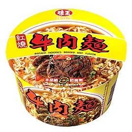 味王紅燒牛肉麵紙碗裝--(碗/組)【合迷雅好物商城】