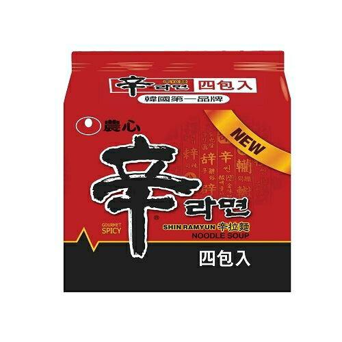 韓國農心辛拉麵120g(4包/袋)【合迷雅好物商城】
