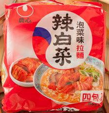 韓國農心辛拉麵-韓國泡菜味辣白菜(4包/袋)【合迷雅好物商城】
