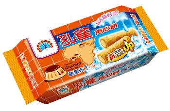 孔雀捲心餅63g-雞蛋布丁口味-1箱【合迷雅好物超級商城】