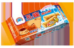 ●孔雀捲心餅63g-雞蛋布丁口味-6包/組 【合迷雅好物商城】
