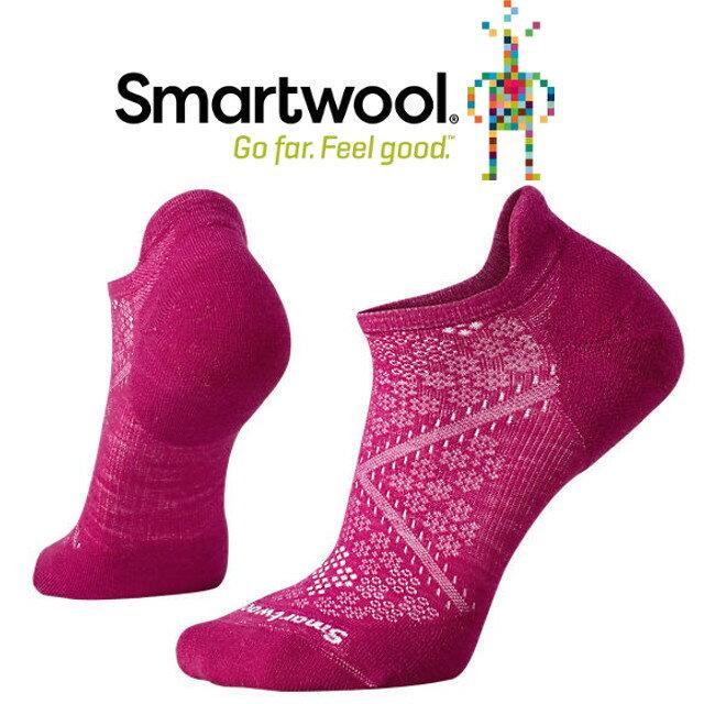 Smartwool羊毛襪/跑步襪/聰明羊/美麗諾羊毛/ 女PhD跑步輕量菁英減震型踝襪 SW210 044 紫莓色
