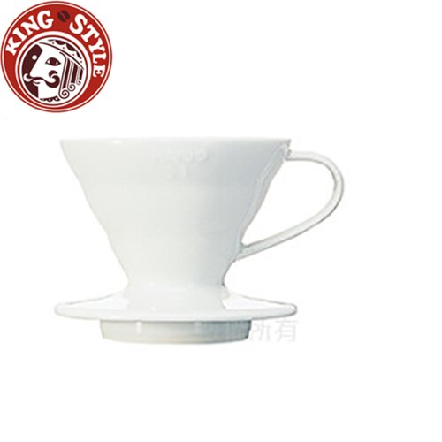 金時代書香咖啡 HARIO HARIO V60 01系列陶瓷濾杯(優雅白)