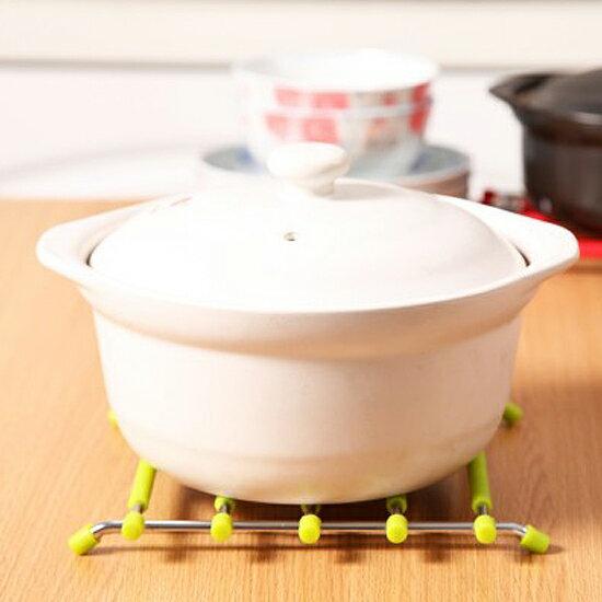 ♚MY COLOR♚不鏽鋼硅膠隔熱墊 防燙 廚房 湯鍋 用餐 防滑 餐墊 杯墊 盤墊 保護滑 【G24-3】