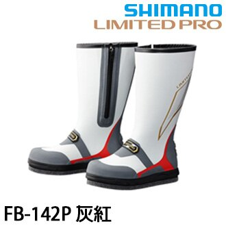 漁拓釣具 SHIMANO FB-142P 灰紅 #M #L #LL #3L (長筒釘鞋)