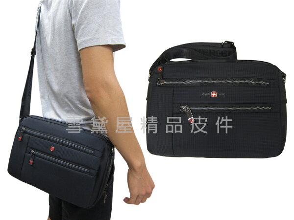 ~雪黛屋~OVER-LAND肩側包中容量二層主袋隨身物品專用輕巧中性款男女適用防水尼龍布材質多袋口設計T5223