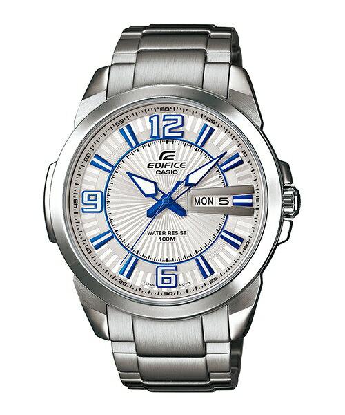 CASIO EDIFICE EFR-103D-7A2雙日曆流行運動腕錶/白面45mm