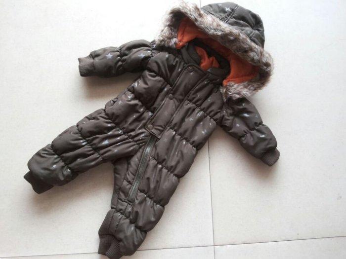 淇淇婦幼館【RD094】抵抗寒流必備款,防風超保暖厚款雪衣,80-90CM