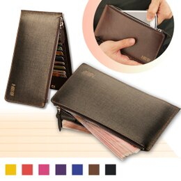 真皮 牛皮 拉鍊皮夾皮包 零錢包 卡片夾手機包手拿包 男包女包
