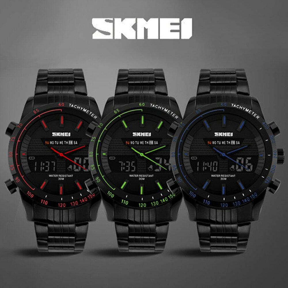 SKMEI 時刻美 1131 時尚雙顯夜光多功能防水計時運動錶 0