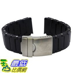 [106美國直購] 錶帶 Black Polyurethane Link Bracelet Band for Luminox Watches