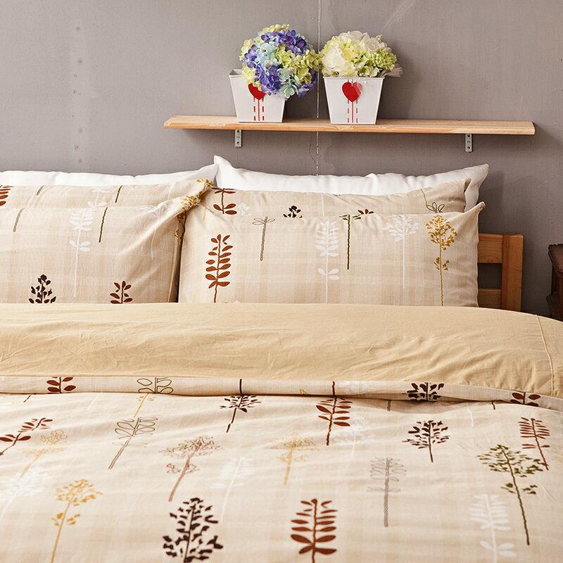 床包被套組 / 雙人加大-100%純棉【夏日之森】含兩件枕套四件式,台灣製,戀家小舖C01-AAC212