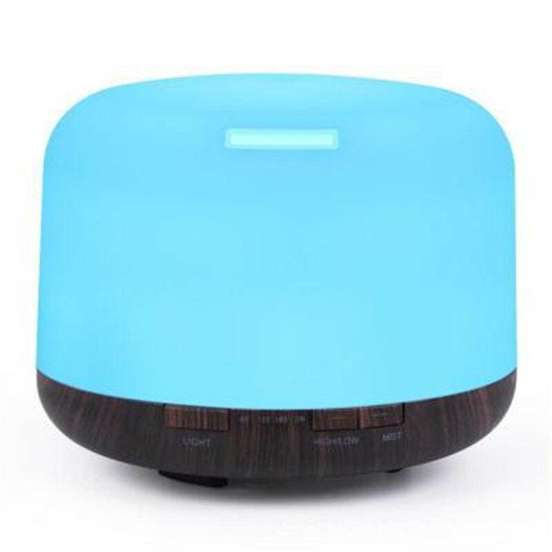 熱銷七彩木紋超聲波加濕器500ml家用靜音凈化器