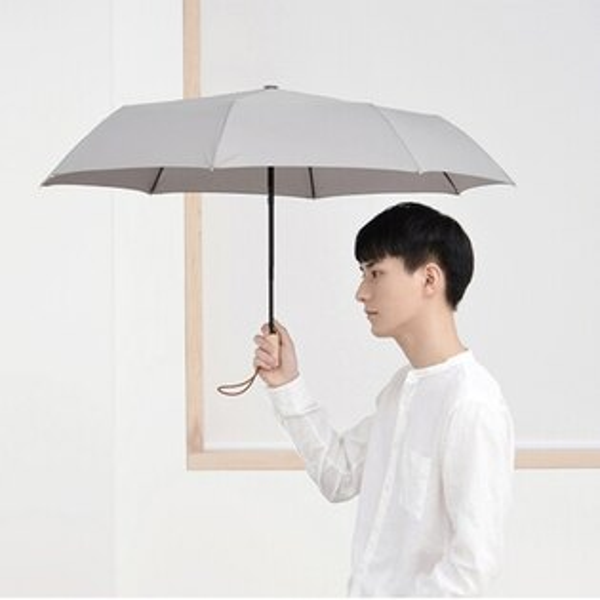 挺趣生活精品館:tiohoh庶民系列三折自開收晴雨傘(承德灰)-8417