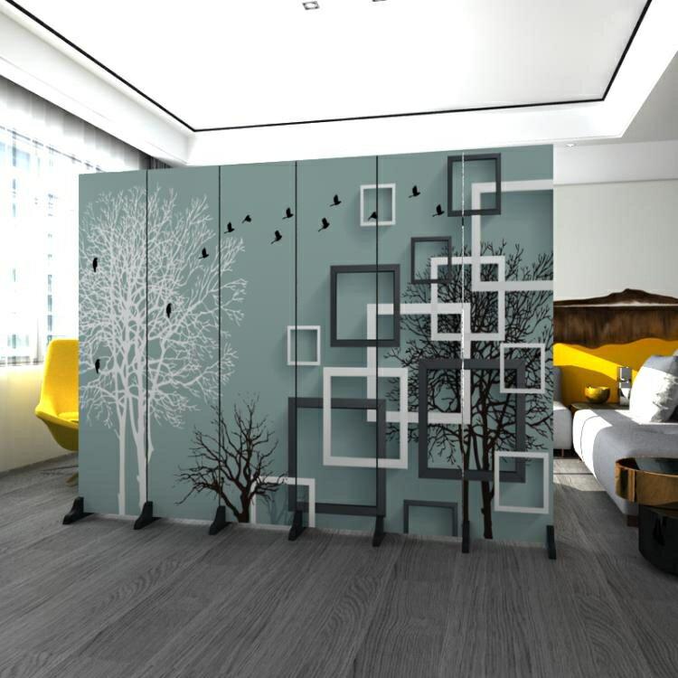 北歐屏風隔斷牆遮擋家用客廳小戶型臥室現代簡約摺屏行動摺疊辦公ATF【7月特惠】