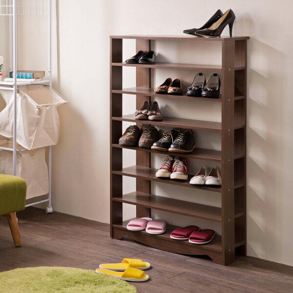 TZUMii:鞋櫃鞋架置物櫃整理櫃收納鞋子TZUMii加藤開放式七層鞋櫃