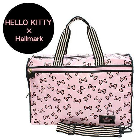 HELLO KITTY × Hallmark聯名收納旅行袋-豹紋蝴蝶結