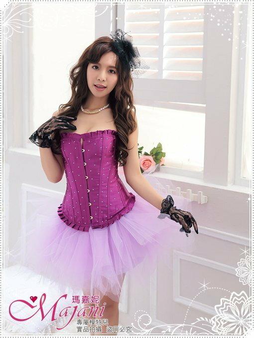 [瑪嘉妮Majani]日系中大尺碼-甜美澎澎裙 蓬蓬裙 舞台表演 尾牙 A款(紫色)特價389 可超取