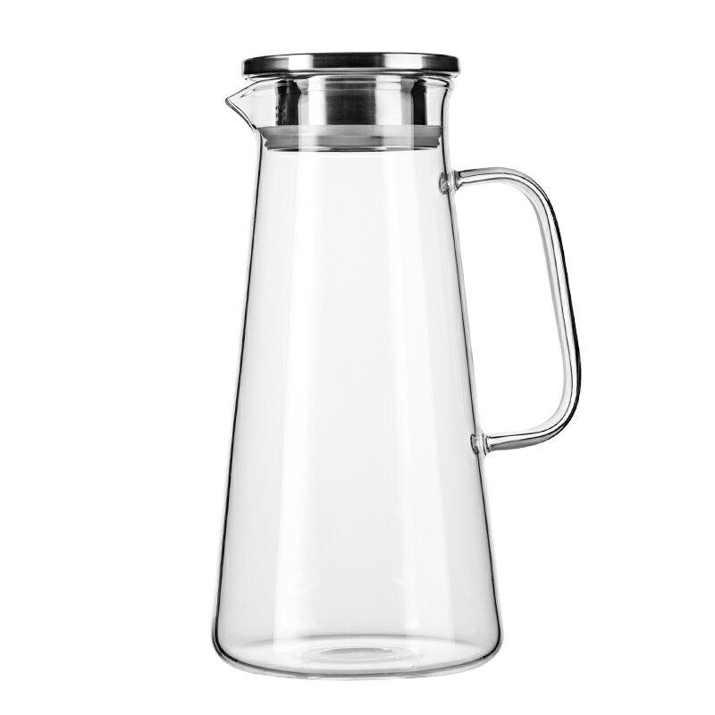 防爆耐熱高溫玻璃涼白開水杯曬水瓶鴨嘴冰茶扎壺冷水壺 雙十一