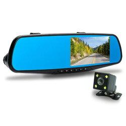 [富廉網]【CORAL】M8 4K GPS測速後視鏡 雙錄ADAS車錄器(送16G記憶卡)