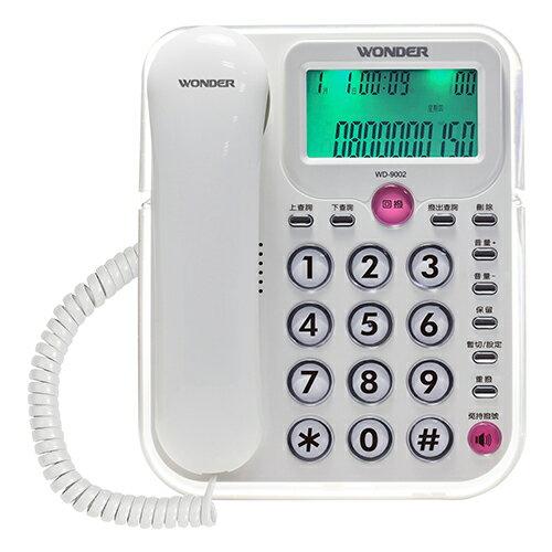 WONDER旺德來電顯示型電話WD-9002【愛買】