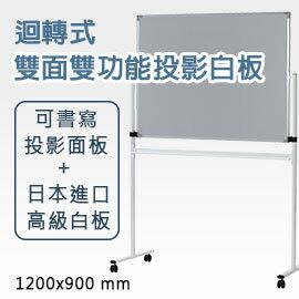 林製作所 株式會社:【日本林製作所】迴轉式雙面雙功能投影白板(小型)投影螢幕白板架可書寫120*90120x90(WB-1200)