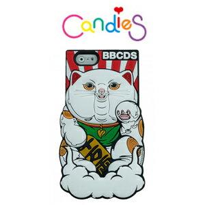 ~Candies~BBCDS x KAZZROCK 聯名款幸運招財貓^(紅 白雲^)~IP