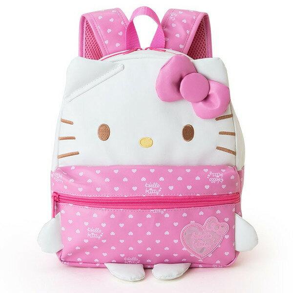 【真愛日本】15121200015 造型後背包M-KT手腳粉結 三麗鷗 Hello Kitty 凱蒂貓 後背包 兒童書包