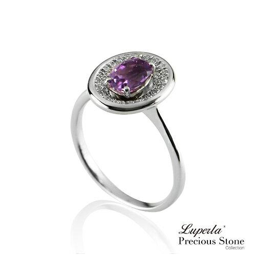 大東山珠寶 紫戀羅蘭 璀璨純銀紫水晶戒指 星座愛情 0