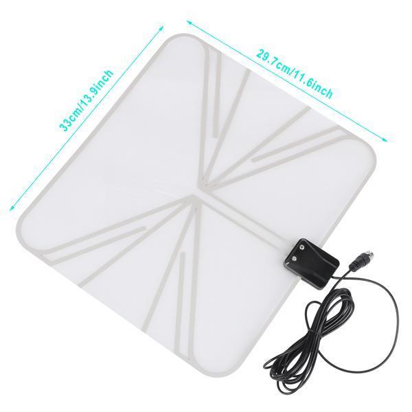Satellite Signal Digital Indoor Television Antenna Falt Wave Box HD UHF/VHF/FM 1