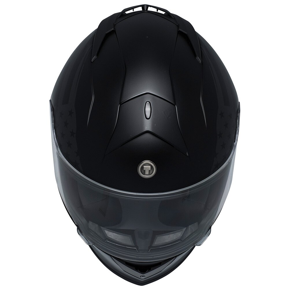 TORC T14B Bluetooth Integrated Mako Full Face Motorcycle Helmet With  Graphic (Flag)