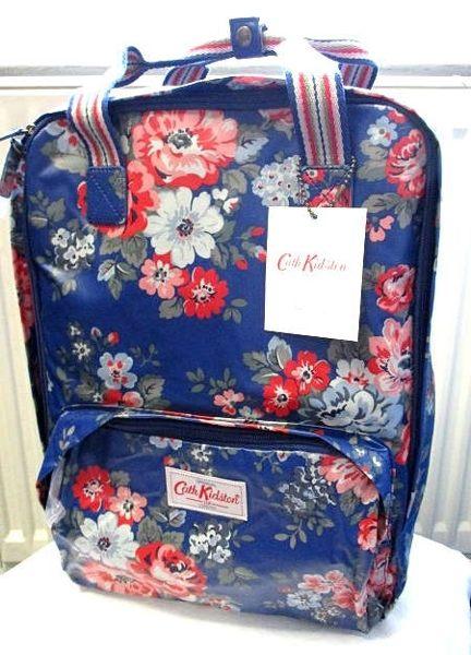 *Realhome*英國名牌Cath Kidston ~全新 淺藍玫瑰花電腦後背包