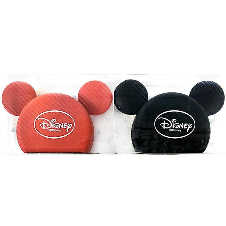 韓國製 迪士尼 米奇Mickey 軟膠牙刷架 牙刷收納架 衛浴設備 卡通造型 兩入 韓國進口正版 096375