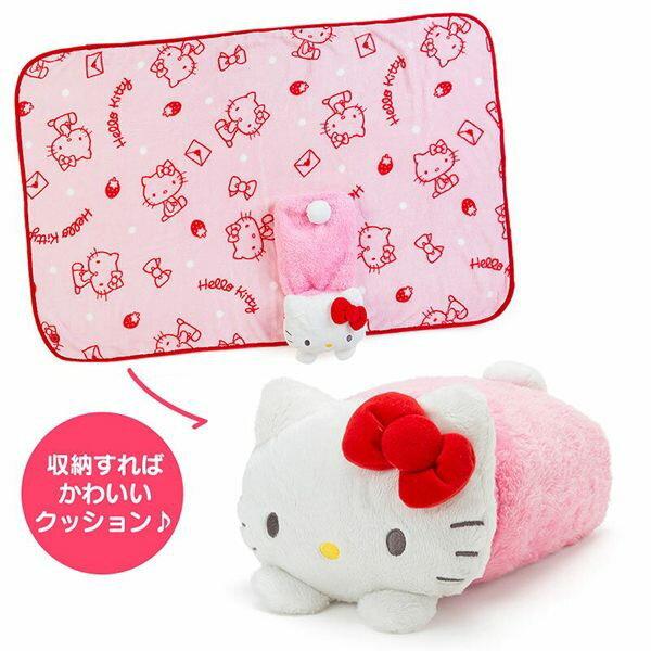 凱蒂貓 毛毯 膝上毯 午睡毯 可收納 三麗鷗 Kitty 日本正版 該該貝比日本精品 ☆